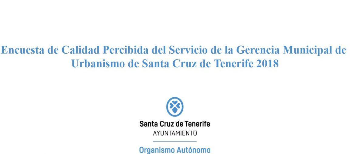 Encuesta de Calidad de Gerencia de Urbanismo de Santa Cruz de Tenerife